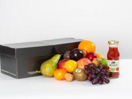 Fruitmand tomatensap