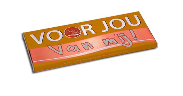 """Chocolade wensreep""""voor jou, van Mij"""""""